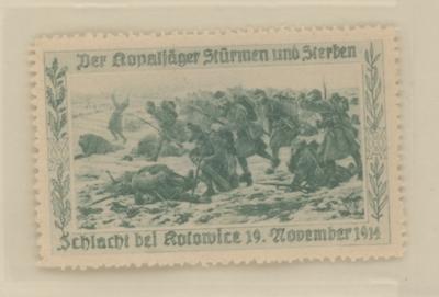 Image from object titled Verschlussmarke - Schlacht bei Kotowice - Kleinstgrafik