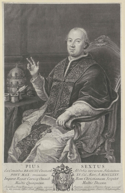 Image from object titled Bildnis Papst Pius VI.