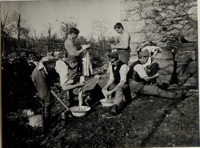 Image from object titled Men from the 10th ITD doing the washing
