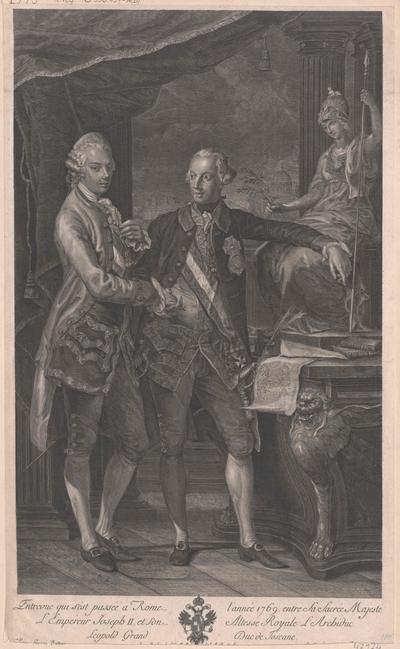 Bildnis Kaiser Joseph II. zusammen mit seinem Bruder  Kaiser Leopold II.