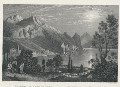 Garnano al Lago di Garda. Garnano am Garda See