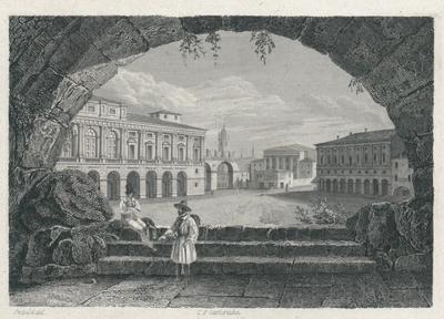 Piazza Bra in Verona. Der Platz Bra in Verona