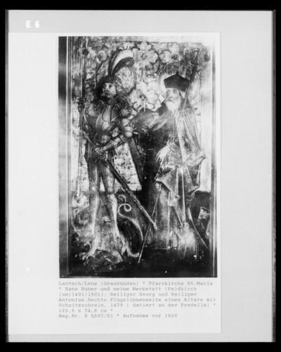 Die Heiligen Georg und Antonius
