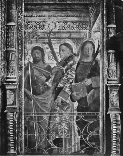 Marienpolyptychon / Polyptychon des heiligen Martin / Polittico di San Martino — Die Heiligen Johannes Baptista, Stephanus und Johannes Evangelista