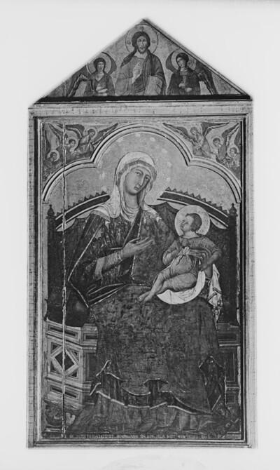 Thronende Madonna mit Kind
