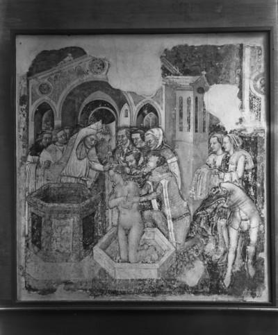 Zyklus der Ursulalegende aus der Ursulakapelle in Santa Margherita — Die Taufe des englischen Prinzen, Ursulas Bräutigam