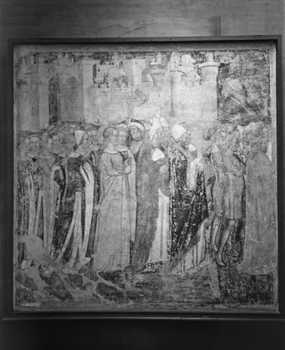 Zyklus der Ursulalegende aus der Ursulakapelle in Santa Margherita — Abreise der Heiligen und ihres Gefolges von Rom nach Köln