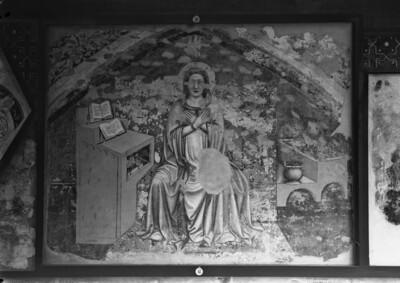 Lünettenbild aus der Ursulakapelle der Kirche Santa Margherita - Maria aus einer Verkündigung