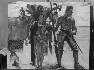 Ruggiero und Knappe / Ritter und Knappe