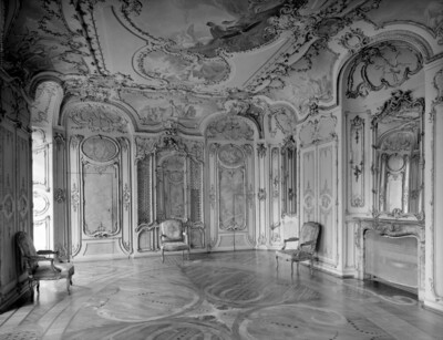 Bibliothek der Kurfürstin Elisabeth Augusta (Raum 196), Mannheim, Schloss, Corps de logis