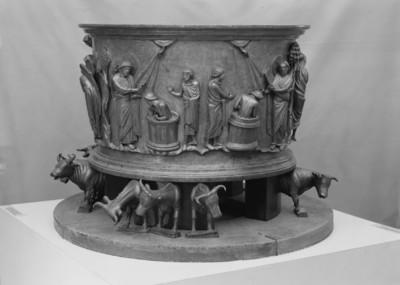 Taufe des Cornelius durch Petrus und Taufe des Philosophen Crato durch den Evangelisten Johannes