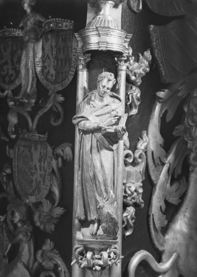 Grabmal Karls des Kühnen von Burgund (+ 1477) — Untere Stirnseite — Evangelist Johannes