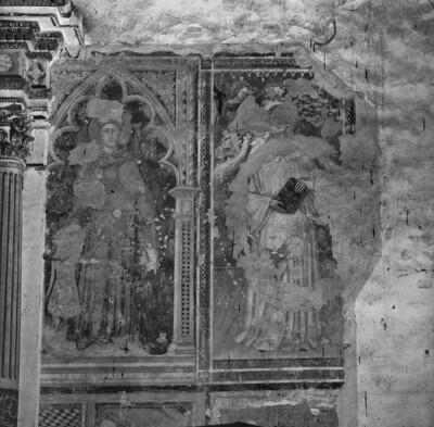 Heilige mit Stifter
