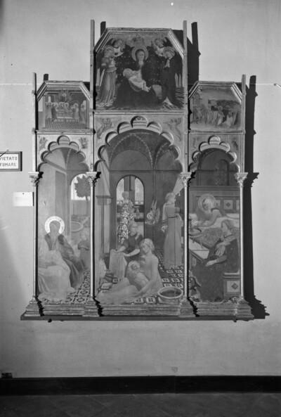 Altaraufsatz mit Szenen der Mariengeschichte