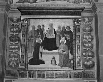 Maria mit Kind und acht Heiligen