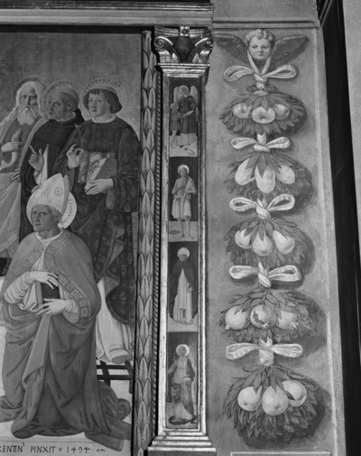 Maria mit Kind und acht Heiligen — Maria mit Kind und Heiligen: Rahmen — Pilaster
