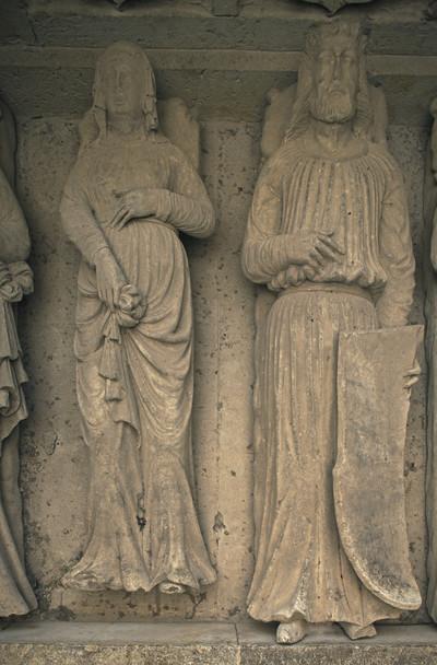 Kenotaph des Markgrafen Konrad von Wettin und mehrerer seiner Familienmitglieder — Liegefigur des Heinrich d. Ä. (Konrads Sohn, gestorben 1181)