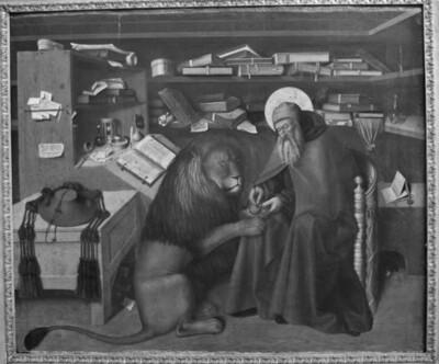 Der heilige Hieronymus mit dem Löwen