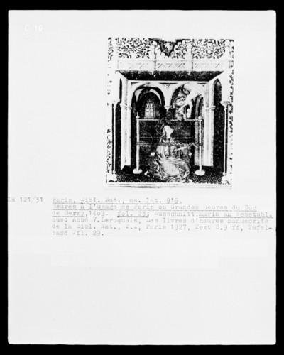 Grandes Heures des Herzogs von Berry — Bildseite mit der Geburt Christi, Folio 23verso
