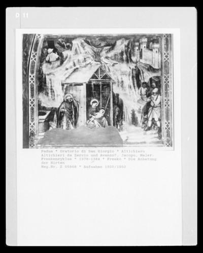 Freskenzyklus — Die Anbetung der Hirten