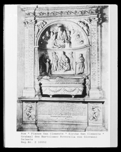 Grabmal des Kardinals Bartolommeo Roverella (+1476)
