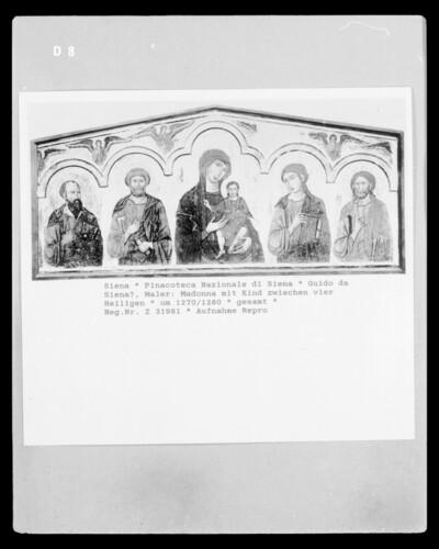 Madonna mit Kind zwischen vier Heiligen