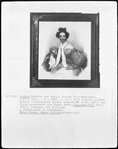 Image from object titled Sophie (Tochter des Königs Gustav IV. von Schweden)