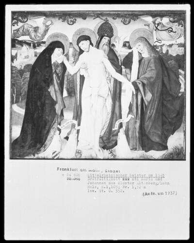 Dreifaltigkeit mit Maria und Johannes