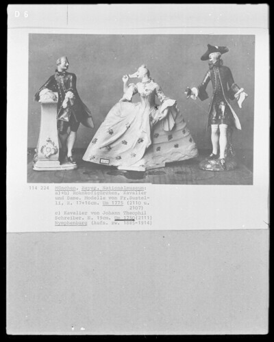a), b) Rokokofigürchen Kavalier und Dame, c) Kavalier