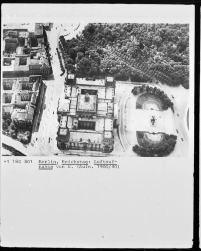 Reichstagsgebäude — Nordfassade, Berlin - Tiergarten, Platz der Republik & Königsplatz (ehemals)