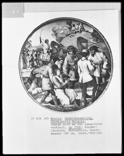 Zyklus mit Darstellungen zur Geschichte Josephs von Ägypten — Joseph wird von den Brüdern an die Ismaeliter verkauft (Die Brüder zeigen dem Vater Josephs blutigen Rock)