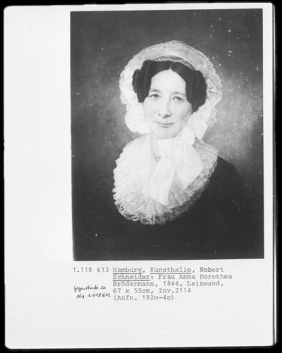Ehebildnisse Anna Dorothea und Peter Simon Brödermann — Anna Dorothea Brödermann
