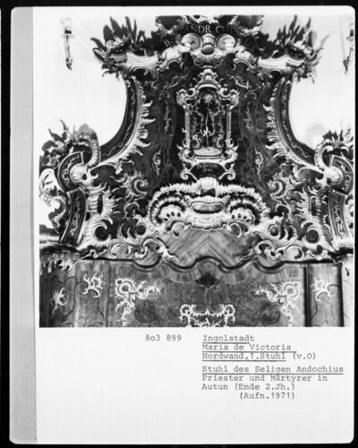 Stuhl des Seligen Andochius, Priester und Märtyrer in Autun