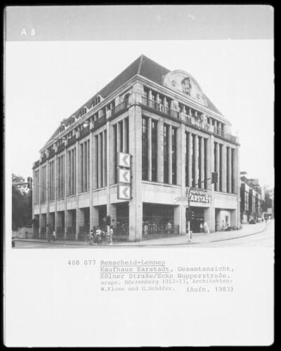 Kaufhaus Karstadt, Remscheid, Kölner Straße