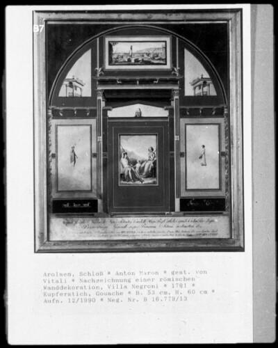 Nachzeichnung einer römischen Wanddekoration, Villa Negroni