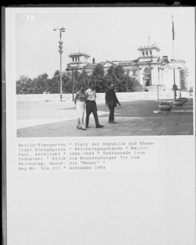 Reichstagsgebäude — Südfassade, Berlin - Tiergarten, Platz der Republik & Königsplatz (ehemals)
