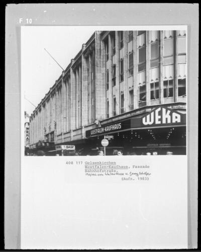 Westfalen-Kaufhaus, Gelsenkirchen, Bahnhofstraße & Augustastraße