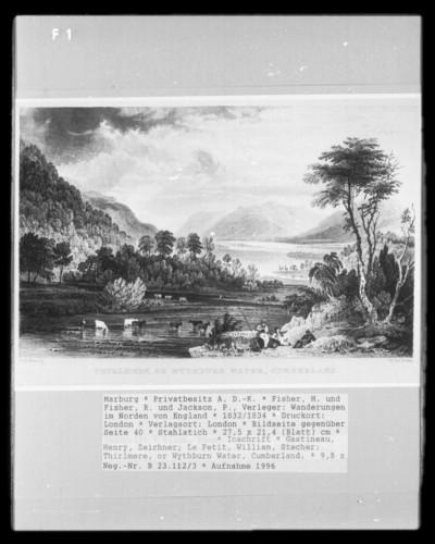 Wanderungen im Norden von England, Band 1 — Bildseite gegenüber Seite 40 — Thirlmere, or Wythburn Water, Cumberland.