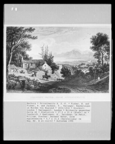 Wanderungen im Norden von England, Band 1 — Bildseite gegenüber Seite 48 — Derwent Water, from Applethwaite