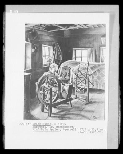 Image from object titled Kind beim Spulen (Bärndorf, Kreis Hirschberg/Schlesien)