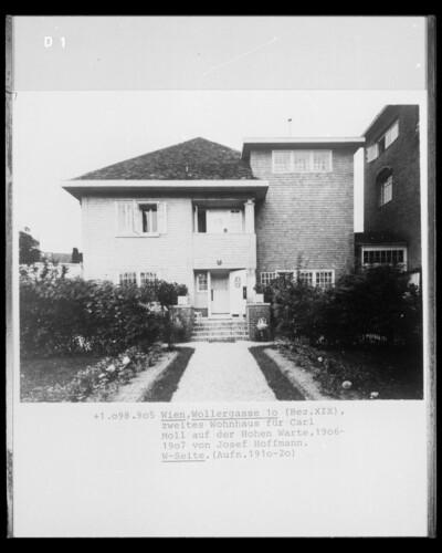 Wohnhaus für Carl Moll, Wien - 19. Bezirk (Wien), Wollergasse 10