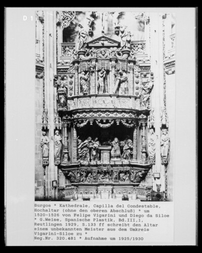 Marienaltar der Capilla del Condestable