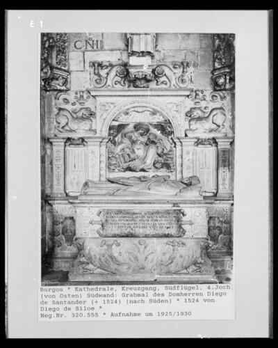 Grabmal des Domherren Diego de Santander, gestorben 1524