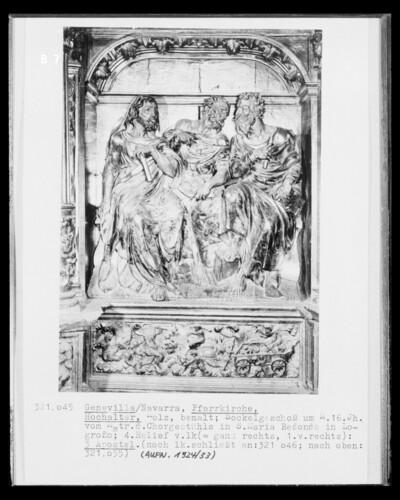 Hochaltar, Detail Sockelgeschoss, 4. Bildfeld von links: Apostelfiguren