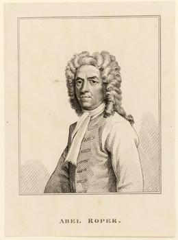 Porträt Abel Roper (1665 - 1726).