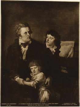Porträt Johann Baptist Strobel (1748 - 1805) und seine Kinder.