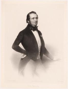 Porträt Bernhard Tauchnitz (1816 - 1895).