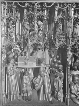 Prozession mit dem Schrein (innen, 8. Feld)