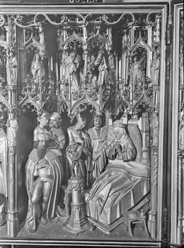 Taufe der heiligen Dimpna (Dymphna) und Tod der Mutter