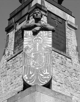 Denkmal für die Dreikaiserschlacht bei Austerlitz — Statue (Äußeres - von Westen); Personifikation Russlands